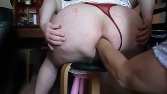 Fat Ass sissy gets Fisted by Mistress in Gaping Cunt hole