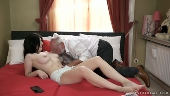 Naughty tattooed chick loves having grimy and crazy sexual intercourse along with old fart