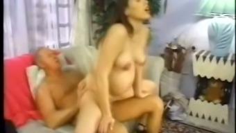 Keri Starr is a naughty pregnant woman who fucks older men for fun