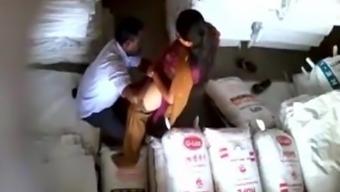 chasmis Wife fucking with her coworker in store room hidden