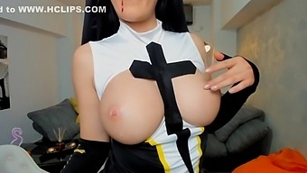 Sexy Nun Cosplay Cam Girl Monja
