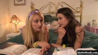 Georgia Jones got some extracurricular lessons from Lisa Ann