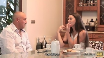 DADDY4K. Gentle dad of guy is better in bed with girl than..