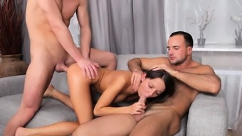 Extraordinary sweetie Foxy Di caresses herself