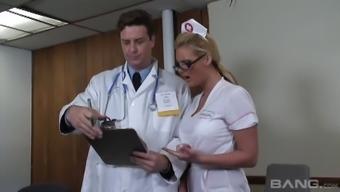 Dirty nurse Phoenix Marie needs doctor cock inside her