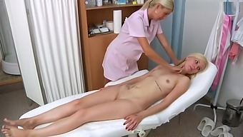 Deborah gyno exam and heartbeat orgasm with help her husband