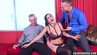 Dreamy milf Catalina Cruz gets airtight pleasure in threesome