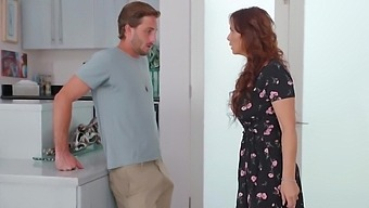 Son-in-law Sticks To Mature Mom In The Bedroom And Takes A Long Young - Syren De Mer And Lucas Frost