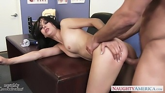 Aroused stud Johnny Castle makes horny Alaina Kristar suck his strong cock