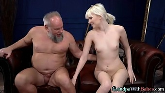 Teen riding an old mans cock before doggystyle sex