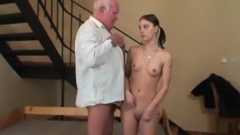 STP7 Simple Jane Gets Her First Fuck From Grand father !