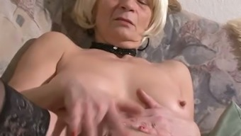 Old trudge with saggy titties is facesitting craving stud in wild pornography video