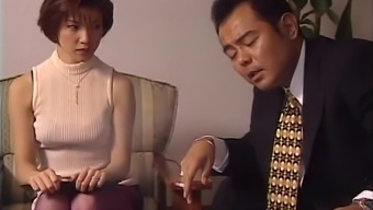Appealing Japanese people housewife has her anticipated heater spooked along with a huge dong hard-core