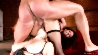 Adrianna Nicole and Desiree Diamond fucked very difficult by a stallion