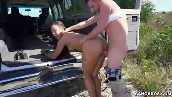 adrian maya needs a drive cuz her auto is cracked consequently this lady rides his dick