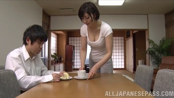 attractive japanese companion loves hardcore pussy thrashing action