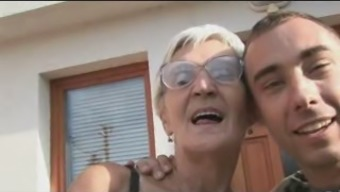 Desperate Granny in Eye-glasses Contributes by using A pair of Cocks