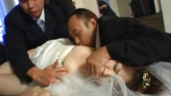Asian bride to be gets intense association fucking part1