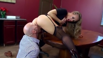 Place of work extreme with the use of big tits Nicole Aniston