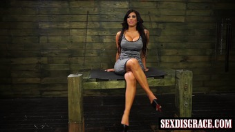 Busty milf Alexa Prick tied up and shamed as a trudge