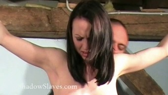 Hellpain beating of attached Her Sharpe in intense spanking