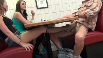 NOT Female offspring MAKESDAD Sperm IN FRONT OF MUM With the use of FOOTJOB