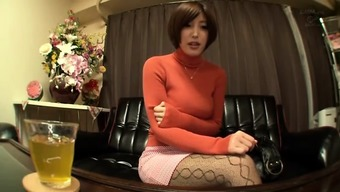 Asian Gorgeous Girl Instructor Showing Her Second Job