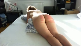 Twisted docile great bottomed companion of my friend got her bum spanked
