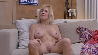 (40's) Mature does interview