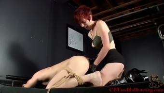 Perverted blonde with great hot boobs pegging a unfamiliar person