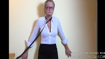 Pissing and Ass-Fisting Passive MILF Slave