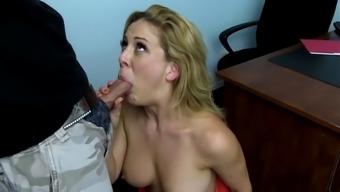 Youthful stud poker ravages black milf on the workplace tables