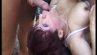 French language GRANNY FUCKED By 2 BIG DICKS - DOUBLE PENETRATION
