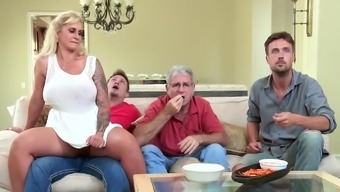 Great booty wife gets juvenile lad to wreck her clipped twat