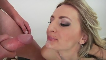 Charming milf with the use of organic titties swallows semen after getting pounded hardcore rectum
