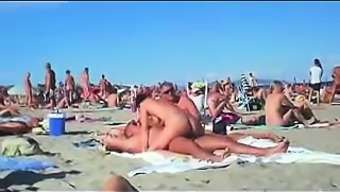 cuckolding within the topless shore gets taped