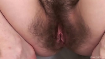 Fairly uniform ensemble on a attractiveness using penis in her furry pussy