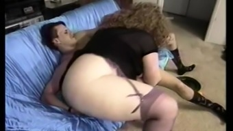 Hairy plus-size woman along with major boobs