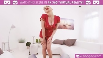 VR PORN-Busty Aletta Ocean Get Cracked And Titty Fuck With A