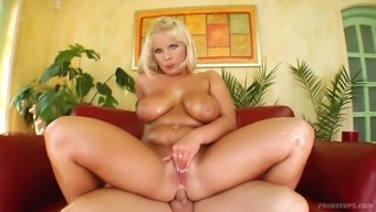 Pale oiled right up mommy by using succulent boobs Lucy had cloudy rectum intercourse in the perimeters pose