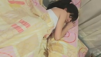 Resting teenager gets woken right up by her man