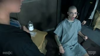 Submissive bald headed slut Abigail Dupree is ready for some BDSM session