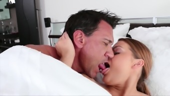 Abby Cross gets her shaved pussy destroyed by a naughty neighbor