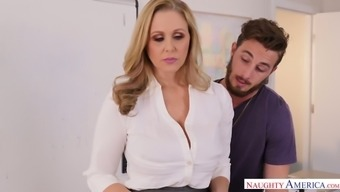 Yummy busty milf Julia Ann is fucked right on the costs by Johhny Mountain