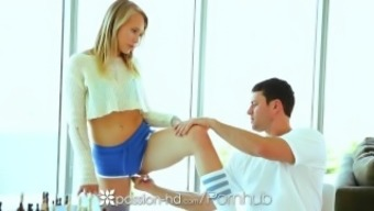 Passion-HD - Hot blond youngster Dakota James is situated on top of her man's penis
