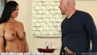 Nuru Massage session Part Fairyland Sizzling Mom Gets Oiled and Facialed