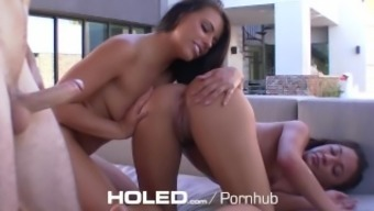 HOLED - Adriana Chechik take the time to show her stepsister Amara Romani to actually anal passage