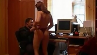 Newbie russian home or office love-making
