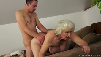 Norma the old bitch gets fucked by much younger dude
