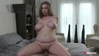 Chubby mature blonde MILF Alex Chance blows in the shower